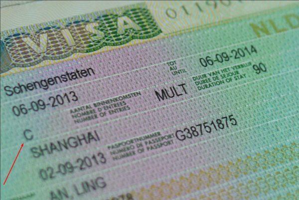 Тип шенгенской визы