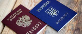 Паспорта РФ и Украины