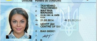 Украинские водительские права