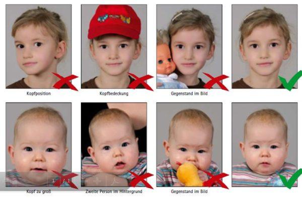 Требования к детскому фото на загранпаспорт