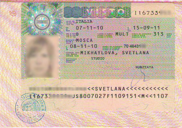 Национальная виза категории D