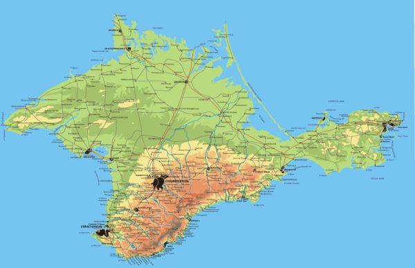 Карта полуострова