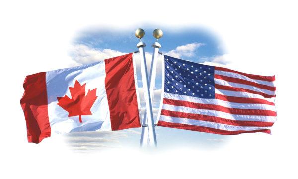 Флаг США и Канады