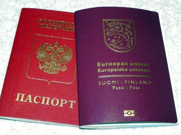 Паспорт Финляндии и РФ