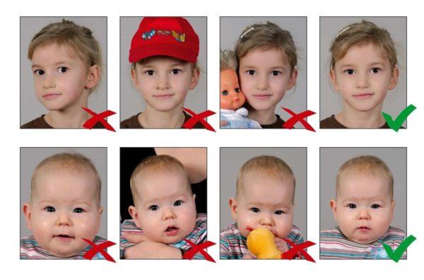 Требование к фото для детей