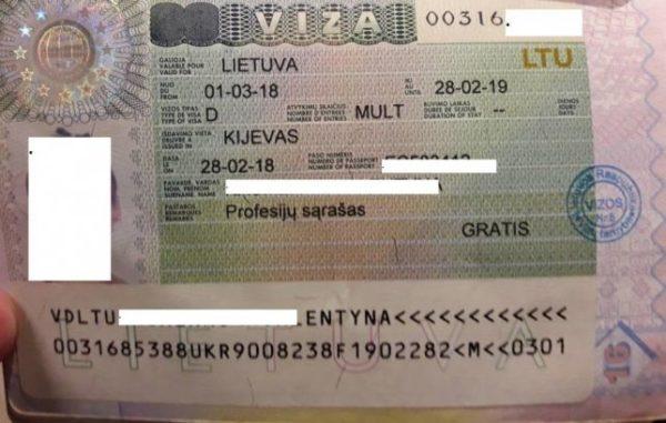 Рабочая виза в Литву