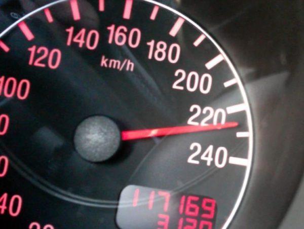 Превышении скорости